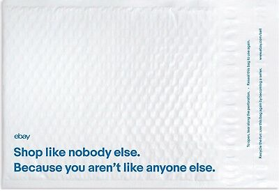 "25 EBay Branded Airjacket padded Envelopes 8.5"" x 10.75"" Brand New"