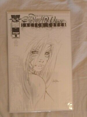 Witchblade #1 - Top Cow Classics - Black & White Sketch Cover - Mikael Janin