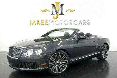 2014 Bentley Continental GT GTC Speed ($260,530 MSRP!) 2014 Bentley Continental GTC Speed, $260K MSRP! Anthracite on Black, Pristine!