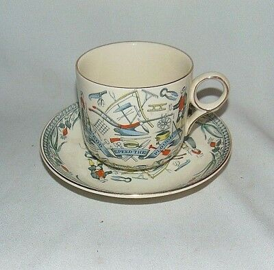 Burgess and Leigh Cup and Saucer Oversized Farmers Arms England
