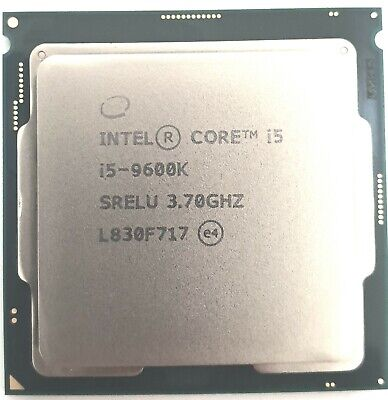 Intel Core i5-9600K Desktop Processor 6 Cores up to 4.6 GHz Turbo CPU OEM Tray
