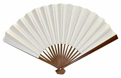 Keihando Takaya fan (Rakugo folding fan) solid color 7 Dimensions 5 min White fa