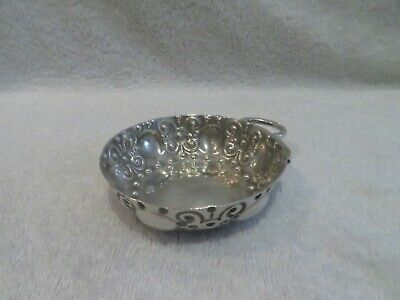 Antique french 800 silver wine tasting cup snake handle renaissance st