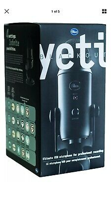 BRAND NEW ~ Blue Microphones Yeti Condenser Microphone - Blackout Edition