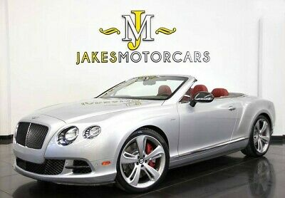 2015 Bentley Continental GT GTC Speed~$298,360 MSRP!~ BENTLEY CARBON FIBER PKG 2015 CONTINENTAL GTC SPEED~ $298,360 MSRP!~ SILVER ON RED~ 10K MILES~ 1-OWNER