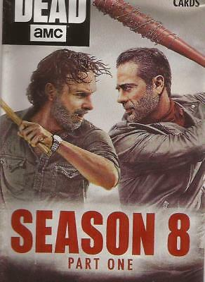Topps 2018 Walking Dead Season 8 Part 1 Complete 90 Card Set with Wrapper Pack