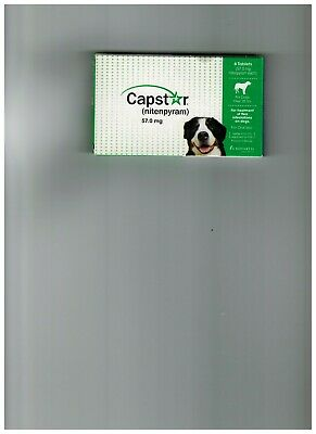 Novartis Capstar Nitenpyram 57mg Green Flea Control Dogs Over 25 lbs 6 Tablets
