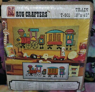 "RC Rugcrafters TRAIN T-901 Tufting Pattern 18"" x 48"" NEW NIP Rug Crafters"