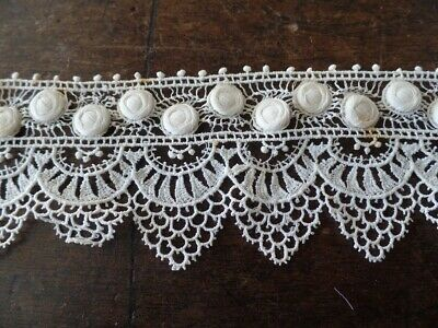 Ancienne Dentelle Couture Mercerie Embroidery Ruban 5 Cm X 82 Cm A10