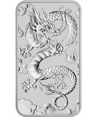 Lingot 2019 once argent 1$ DRAGON chine chinois perth mint AUSTRALIE Ag oz P2€