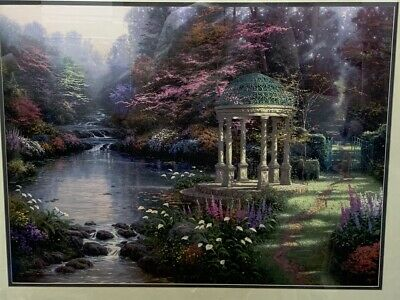 Thomas Kinkade Garden Of Prayer Print Signed Numbered Framed Matted 29x23