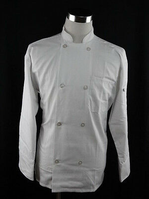 Uncommon Thread  White Classic Knot Chef Coat Size Large