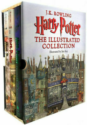 Harry Potter: The Illustrated Collection (Books 1-3 Boxed Set) - FREE SHIPPING