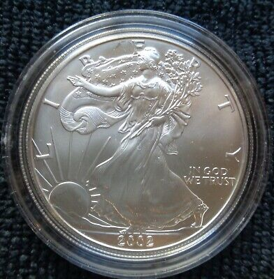 2002 1 oz Silver American Eagle (Brilliant Uncirculated)