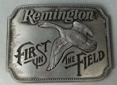 Vintage 1980 Remington First in the Field Canada Canadian Goose Belt Buckle