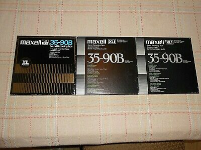 3 TOTAL MAXELL Tapes  1- UDXL 35-90B & 2-UDXL1 35-90B used reel to reel tapes