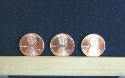 2017 P Lincoln Shield Cent BU Uncirculated Pennies U S Coin Three