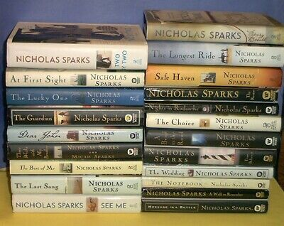 21 NICHOLAS SPARKS Complete 1-21 EVERY BREATH Two By Two All HB/DJ Smoke-Free