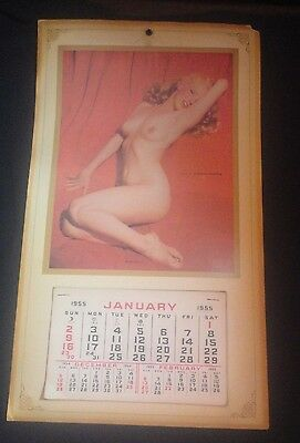 Vintage Original 1955 Marilyn Monroe Golden Dreams Pin Up Calendar Nice Shape