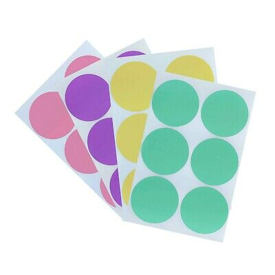Color Coding Round Stickers for Marking 2 Inch Labels for Art Marking Organizing