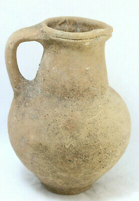 Ancient Late Antiquity Middle Eastern Ceramic Water Pitcher Vase