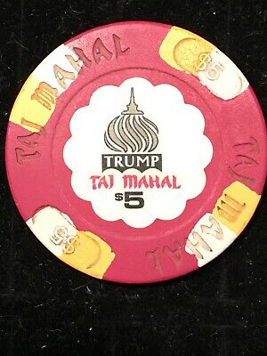 Trump Taj Mahal Casino $5 Chip Atlantic City New Jersey Poker Blackjack Vintage