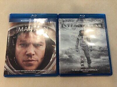 Interstellar Blu-ray DVD & The Martian Blu-ray DVD