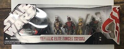 Star Wars 30th Republic Elite Forces Mandalorians Clone Troopers New Sealed 3.75