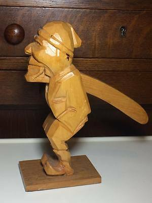 Folk art hand carved wooden nutcracker