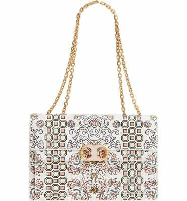 69ce92b11ae NWT  628 Tory Burch Gemini Link Large Chain Printed Hicks Garden Shoulder  Bag