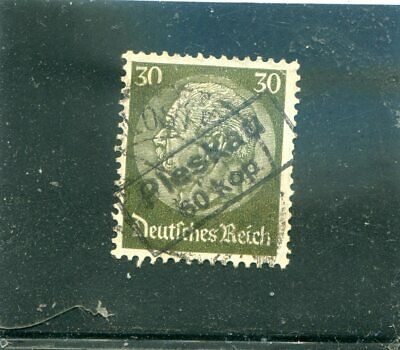"""Germany old used stamp O/P during occupation Russian city """"Pskov"""" rare VF"""