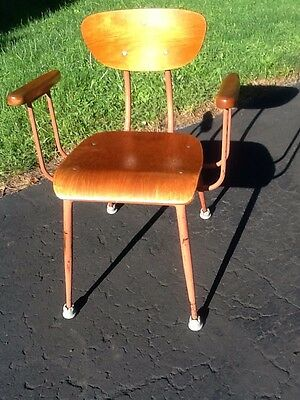 Vintage Mid Century Bentwood / Metal Chair With Arms - Great Look - Nice