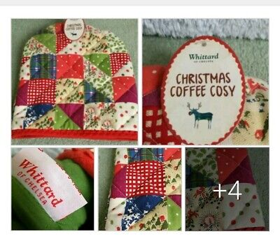 *Used*Lovely Quilted Colourful Christmas Tea Cosy Whittard Some Marks Home Decor
