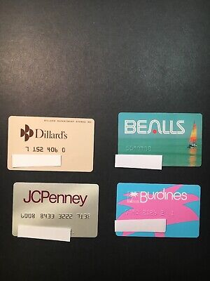 4 Expired Credit Cards For Collectors - Retail Store Lot 21 (3277)