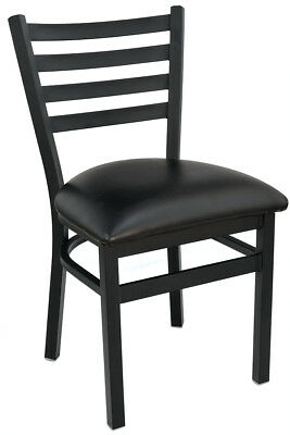 New Gladiator Ladder Back Restaurant Chair with Black Vinyl Seat