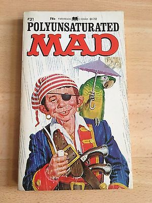 Polyunsaturated Mad Paperback Book William M Gaines 1972 Magazine Out of Print