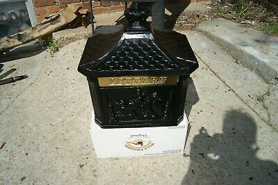 Cast Iron  Letter Mailbox Pony Express Cowboy Must See