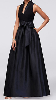 50f9b510bee Jessica Howard Sleeveless Taffeta Gown with Ruffled V-Neck 6 NWT  240 SOLD  OUT!