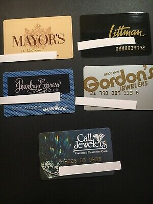 5 Expired Credit Cards For Collectors - Jewelry Theme Lot 1