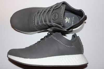 c27dce9f73af0 adidas Consortium x Wings and Horns NMD R2 Ash Gray Leather Sneakers Size  7.5