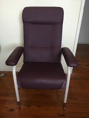MACMED high back chair plus pressurerelieving cushion and foot cushion aged care
