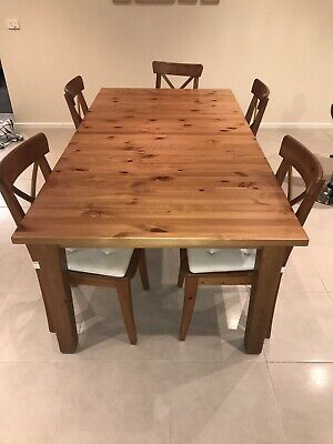 Extendable Dining Table IKEA Stornas And 5 Chairs