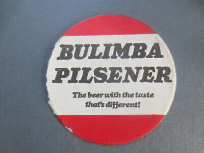 1 only BULIMBA BREWERY / Bulimba Pilsener 1970,s Issue BEER coaster
