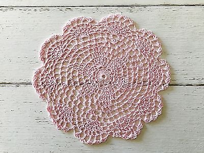 22 Cm New Baby Pink Crochet Lace Doily