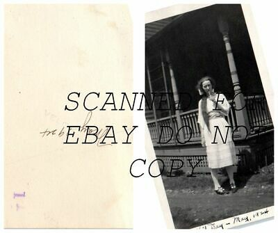 May 1924 Warren Pa Girl with Long Hair & Sucker VINTAGE  PHOTO