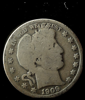 1909-P Barber 90% Silver Half Dollar Ships Free. Buy 5 for $2 off