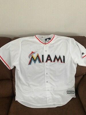 buy popular d1197 88044 MAJESTIC MIAMI MARLINS Giancarlo Stanton #27 Baseball Jersey NWT Size 2XL  Mens