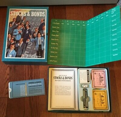Vintage 3M Stocks & Bonds Bookshelf Board Game 1964