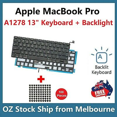 "Keyboard for Apple MacBook Pro 13"" Unibody A1278 2009 2010 2011 2012 Backlit US"