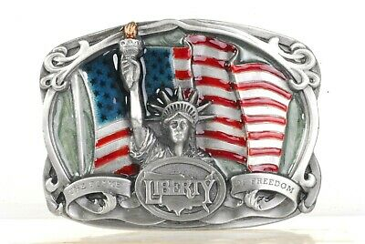Nos Vintage Bergamot Brass Works 1985  **Liberty** Belt Buckle K-42